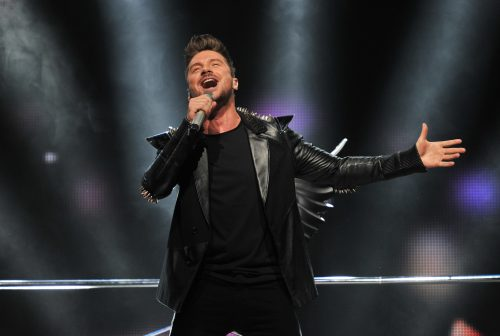 March 7, 2016. - Russia, Moscow. - Concert 'Women Like Me' at the Crocus City Hall. In picture: singer Sergey Lazarev.